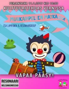 Muskaripellen Matkassa -konsertti @ Vernissasali | Vantaa | Finland