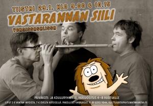 Vastarannan Siili -konsertti @ Vernissasali | Vantaa | Finland
