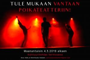 Vantaan Poikateatterin harjoitukset @ Kulttuuritehdas Vernissa | Vantaa | Finland