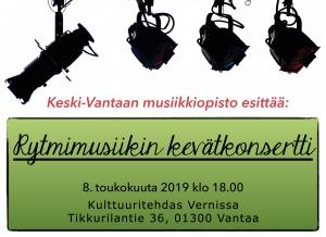 Rytmimusiikin Kevätkonsertti @ Vernissasali | Vantaa | Finland