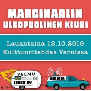 Marginaalin Ulkopuolinen Klubi: Kynnet / The Duplo! / Miettiin @ Vernissasali | Vantaa | Finland