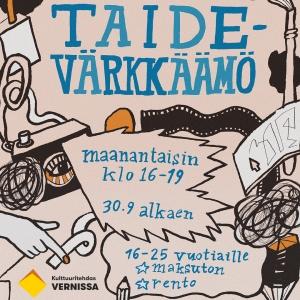 Taidevärkkäämö & Videotaidepaja 16-25-vuotiaille @ Kulttuuritehdas Vernissa | Vantaa | Finland