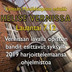VMO: Helise Vernissa @ Vernissasali | Vantaa | Finland