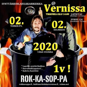 Rokkasoppa 1v synttärijuhlajulkkarikeikka @ Vernissasali | Vantaa | Finland