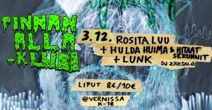 Pinnan alla -klubi: Rosita Luu, Hulda Huima ja Hitaat sekunnit, LUNK @ Vernissasali | Vantaa | Finland