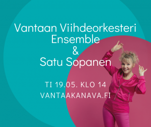 Vantaan Viihdeorkesteri Ensemble & Satu Sopanen @ Livestream: Vantaa Kanava