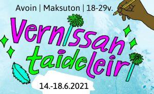 Nuorten aikuisten taideleiri (14.-18.6.) @ Kulttuuritehdas Vernissa | Vantaa | Suomi